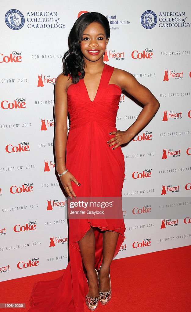 Olympian Gabby Douglas attends The Heart Truth 2013 Fashion at Hammerstein Ballroom on February 6, 2013 in New York City.