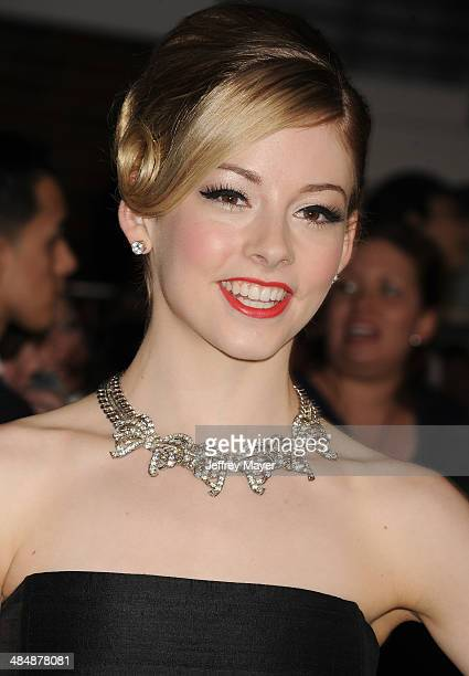 Olympian Gracie Gold arrives at the Los Angeles premiere of 'Divergent' at Regency Bruin Theatre on March 18 2014 in Los Angeles California