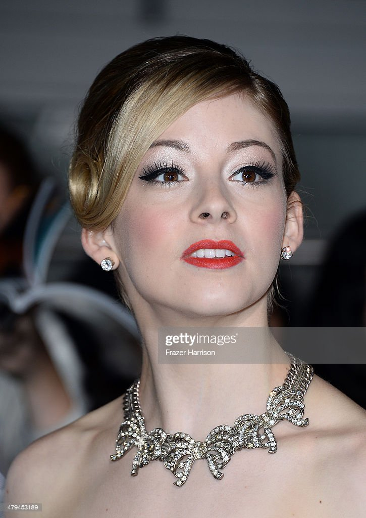 Olympian Gracie Gold arrives at the premiere of Summit Entertainment's 'Divergent' at the Regency Bruin Theatre on March 18, 2014 in Los Angeles, California.