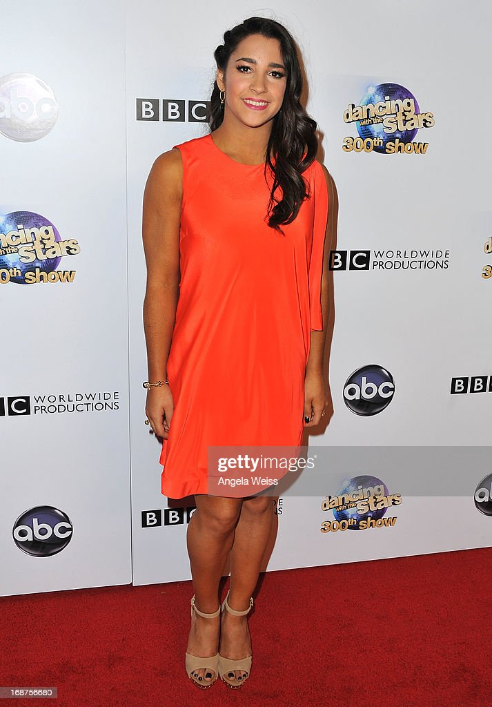Olympian gymnast Aly Raisman arrives at ABC's 'Dancing With The Stars' 300th Episode Celebration at Boulevard3 on May 14, 2013 in Hollywood, California.