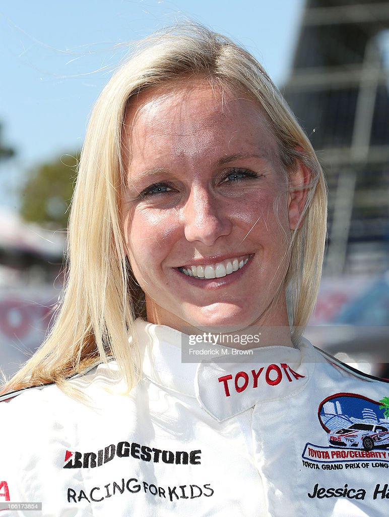 Olympian <a gi-track='captionPersonalityLinkClicked' href=/galleries/search?phrase=Jessica+Hardy&family=editorial&specificpeople=540355 ng-click='$event.stopPropagation()'>Jessica Hardy</a> attends the 37th Annual Toyota Pro/Celebrity Race-Practice Day on April 9, 2013 in Long Beach, California.