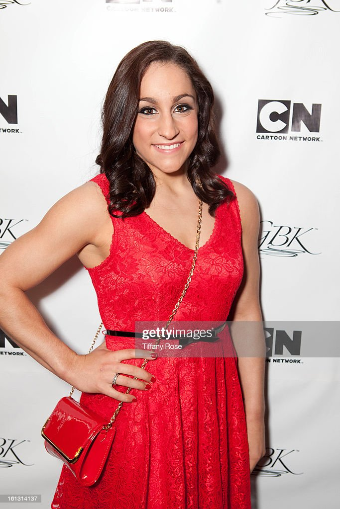 Olympian Jordyn Wieber attends the GBK & Cartoon Network's Official Backstage Thank You Lounge at Barker Hangar on February 9, 2013 in Santa Monica, California.
