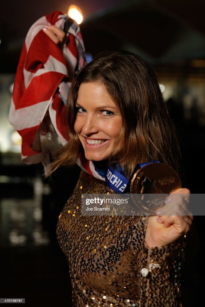 U.S. Olympian <a gi-track='captionPersonalityLinkClicked' href=/galleries/search?phrase=Julia+Mancuso&family=editorial&specificpeople=214615 ng-click='$event.stopPropagation()'>Julia Mancuso</a> visits the USA House in the Olympic Village on February 18, 2014 in Sochi, Russia.