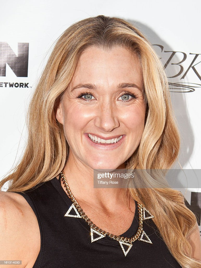 Olympian Kerri Walsh attends the GBK & Cartoon Network's Official Backstage Thank You Lounge at Barker Hangar on February 9, 2013 in Santa Monica, California.