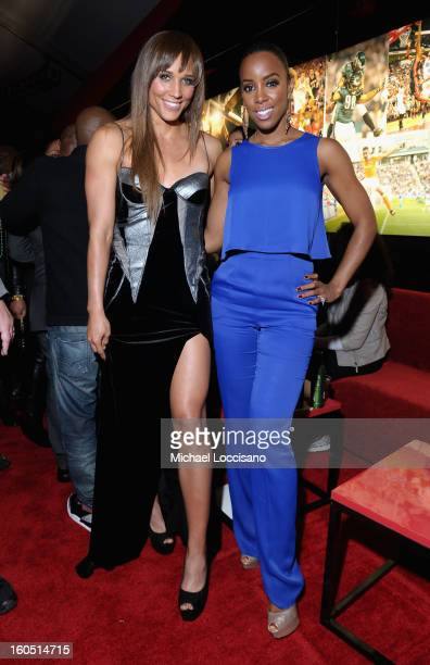 Olympian Lolo Jones and Singer Kelly Rowland attend ESPN The Magazine's 'NEXT' Event at Tad Gormley Stadium on February 1 2013 in New Orleans...
