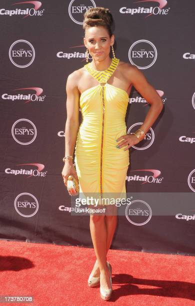 Olympian Lolo Jones arrives at The 2013 ESPY Awards at Nokia Theatre LA Live on July 17 2013 in Los Angeles California