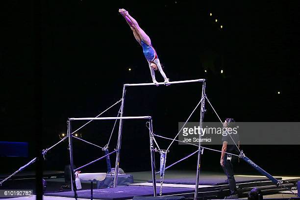 S Olympian Madison Kocian performs at the 2016 Kellogg's Tour of Gymnastics Champions at Staples Center on September 24 2016 in Los Angeles California
