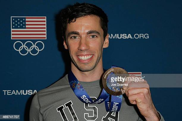 S Olympian Matthew Antoine visits the USA House in the Olympic Village on February 16 2014 in Sochi Russia