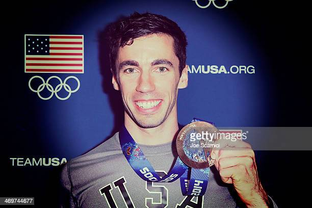 US Olympian Matthew Antoine visits the USA House in the Olympic Village on February 16 2014 in Sochi Russia