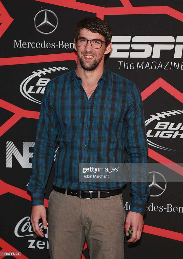 Olympian <a gi-track='captionPersonalityLinkClicked' href=/galleries/search?phrase=Michael+Phelps&family=editorial&specificpeople=162698 ng-click='$event.stopPropagation()'>Michael Phelps</a> attends ESPN The Magazine's 'NEXT' Event at Tad Gormley Stadium on February 1, 2013 in New Orleans, Louisiana.
