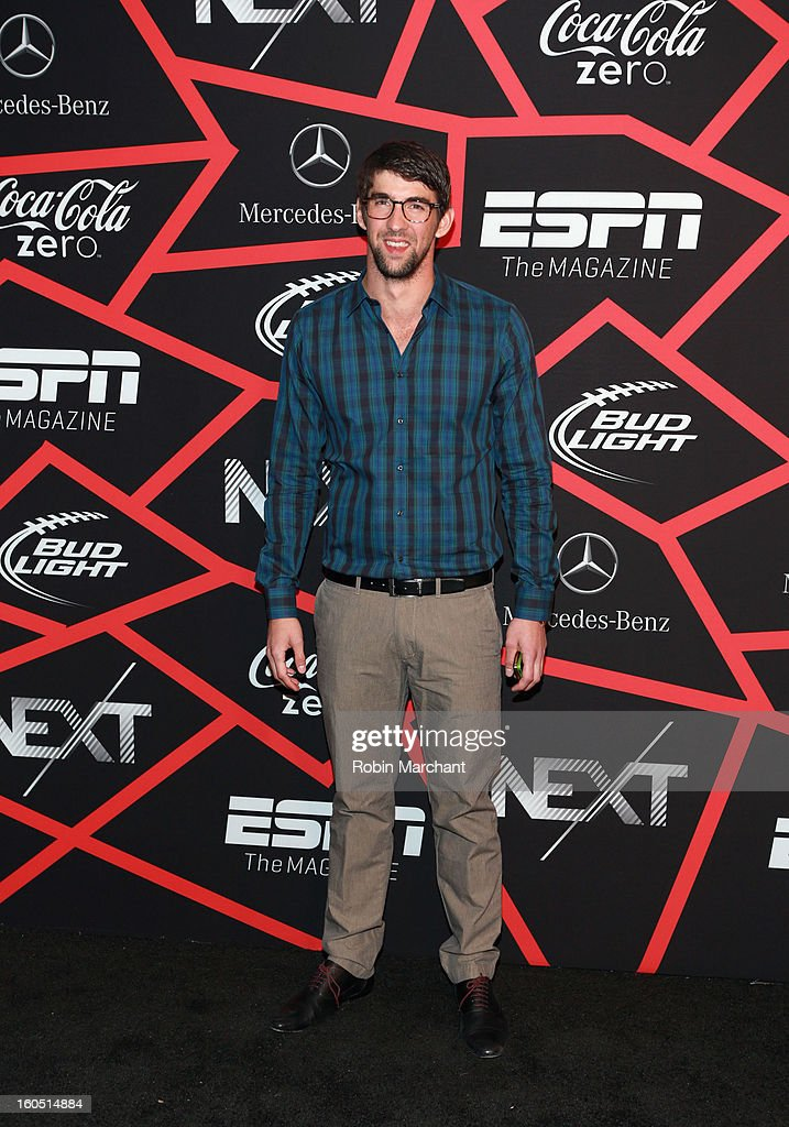 Olympian Michael Phelpsattends ESPN The Magazine's 'NEXT' Event at Tad Gormley Stadium on February 1, 2013 in New Orleans, Louisiana.