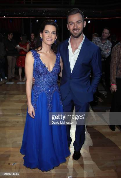 Olympian Nancy Kerrigan and dancer Artem Chigvintsev attend 'Dancing with the Stars' Season 24 premiere at CBS Televison City on March 20 2017 in Los...
