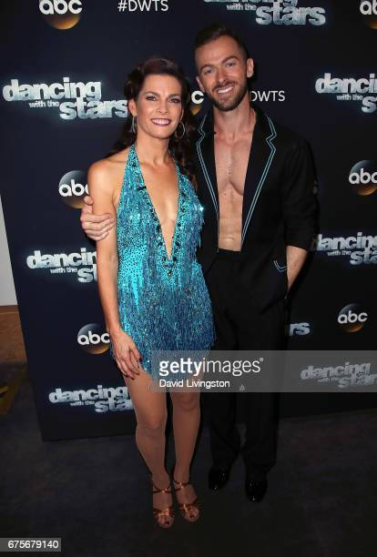 Olympian Nancy Kerrigan and dancer Artem Chigvintsev attend 'Dancing with the Stars' Season 24 at CBS Televison City on May 1 2017 in Los Angeles...