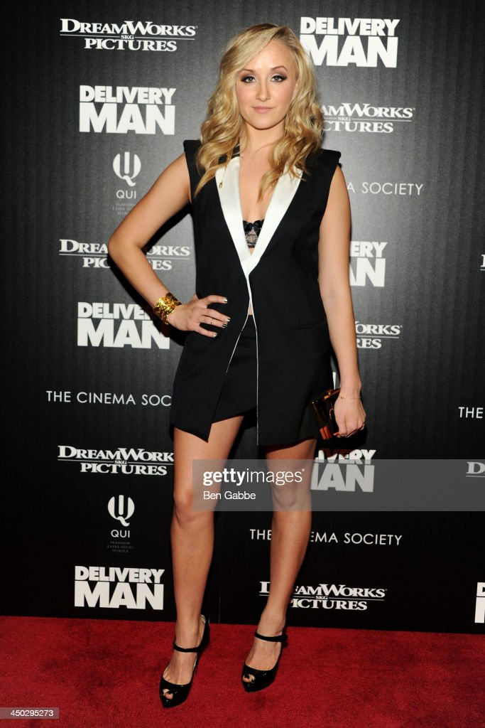 Olympian Nastia Liukin attends DreamWorks Pictures & The Cinema Society host a screening of 'Delivery Man' at the Paley Center For Media on November 17, 2013 in New York City.