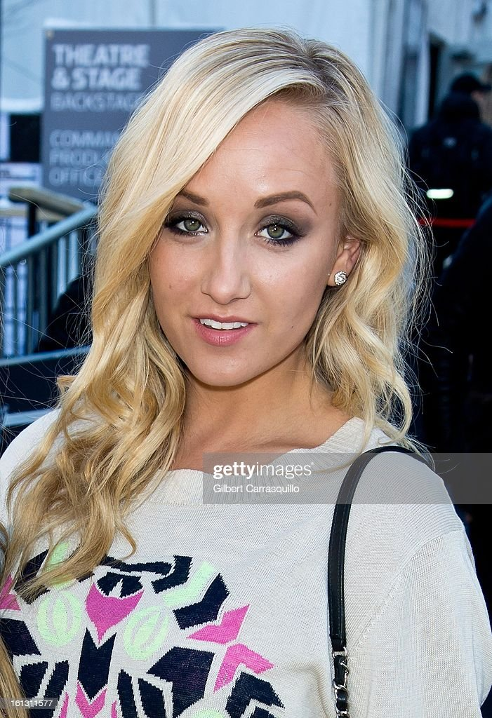 Olympian <a gi-track='captionPersonalityLinkClicked' href=/galleries/search?phrase=Nastia+Liukin&family=editorial&specificpeople=241334 ng-click='$event.stopPropagation()'>Nastia Liukin</a> attends Fall 2013 Mercedes-Benz Fashion Show at The Theater at Lincoln Center on February 9, 2013 in New York City.