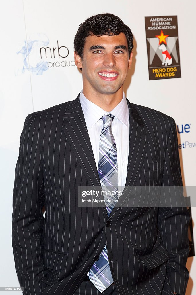 Olympian <a gi-track='captionPersonalityLinkClicked' href=/galleries/search?phrase=Ricky+Berens&family=editorial&specificpeople=5420691 ng-click='$event.stopPropagation()'>Ricky Berens</a> attends The American Humane Association's Hero Dog Awards on October 6, 2012 in Beverly Hills, California.