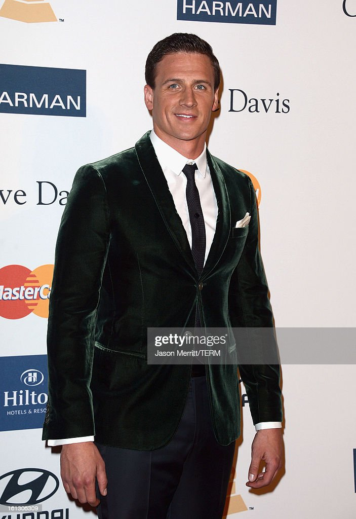Olympian <a gi-track='captionPersonalityLinkClicked' href=/galleries/search?phrase=Ryan+Lochte&family=editorial&specificpeople=182557 ng-click='$event.stopPropagation()'>Ryan Lochte</a> arrives at Clive Davis & The Recording Academy's 2013 Pre-GRAMMY Gala and Salute to Industry Icons honoring Antonio 'L.A.' Reid at The Beverly Hilton Hotel on February 9, 2013 in Beverly Hills, California.