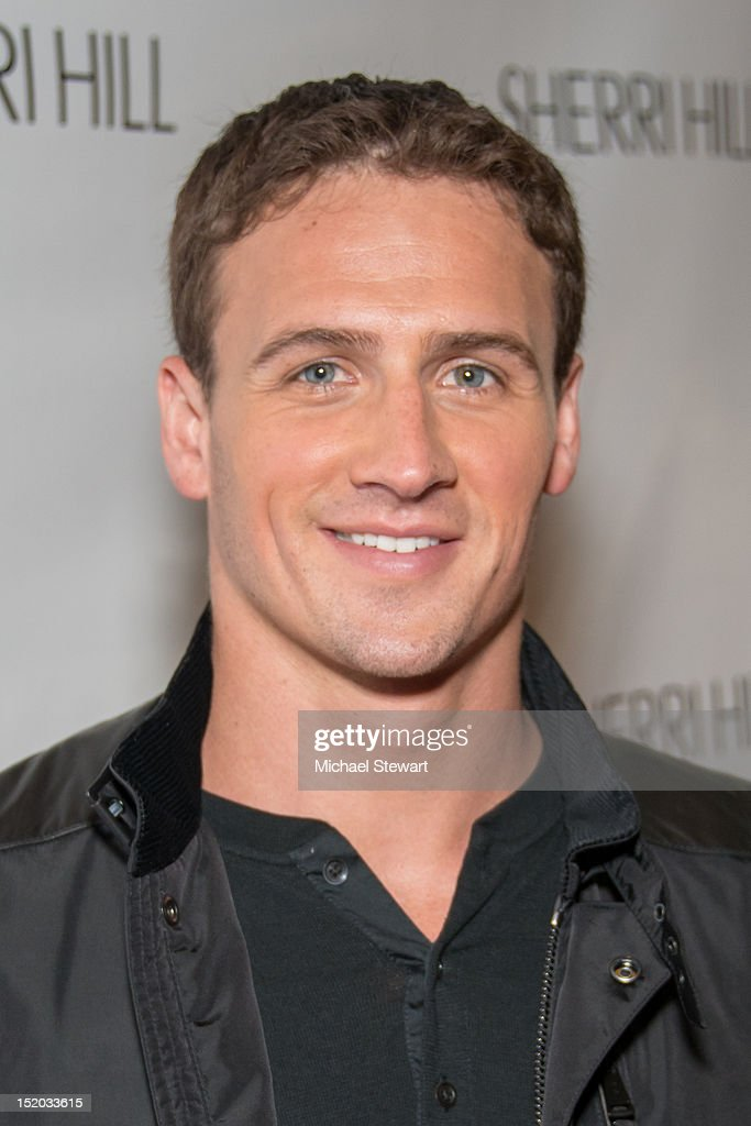 US olympian <a gi-track='captionPersonalityLinkClicked' href=/galleries/search?phrase=Ryan+Lochte&family=editorial&specificpeople=182557 ng-click='$event.stopPropagation()'>Ryan Lochte</a> attends the Evening Sherri Hill Spring 2013 Mercedes-Benz Fashion Week Show at Trump Tower on September 7, 2012 in New York City.