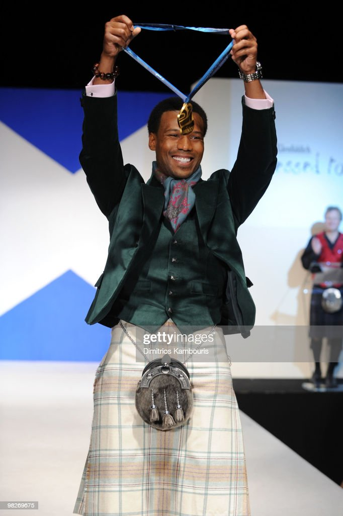 Olympian Shani Davis attends the 8th annual 'Dressed To Kilt' Charity Fashion Show at M2 Ultra Lounge on April 5 2010 in New York City