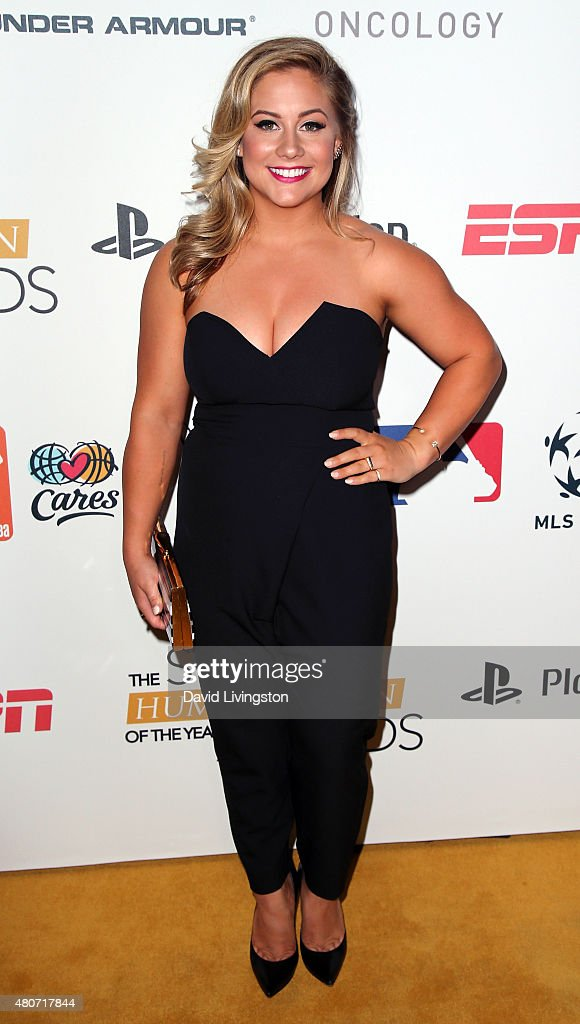 Olympian Shawn Johnson attends the 2015 Sports Humanitarian of the Year Awards at the Conga Room at LA Live on July 14 2015 in Los Angeles California