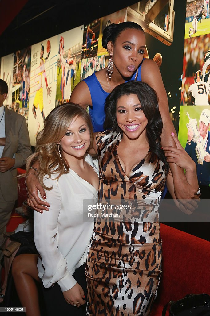 Olympian Shawn Johnson, singer Kelly Rowland and trainer Jeanette Jenkins attend ESPN The Magazine's 'NEXT' Event at Tad Gormley Stadium on February 1, 2013 in New Orleans, Louisiana.