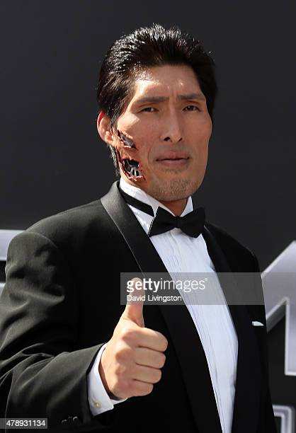 Olympian Shinichi Shinohara attends the premiere of Paramount Pictures' 'Terminator Genisys' at the Dolby Theatre on June 28 2015 in Hollywood...