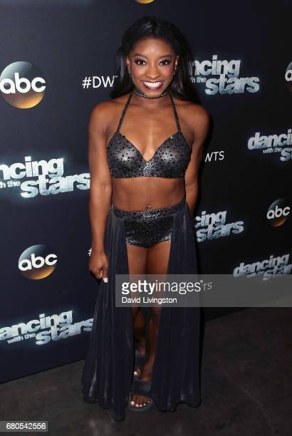 Olympian Simone Biles attends 'Dancing with the Stars' Season 24 at CBS Televison City on May 8 2017 in Los Angeles California