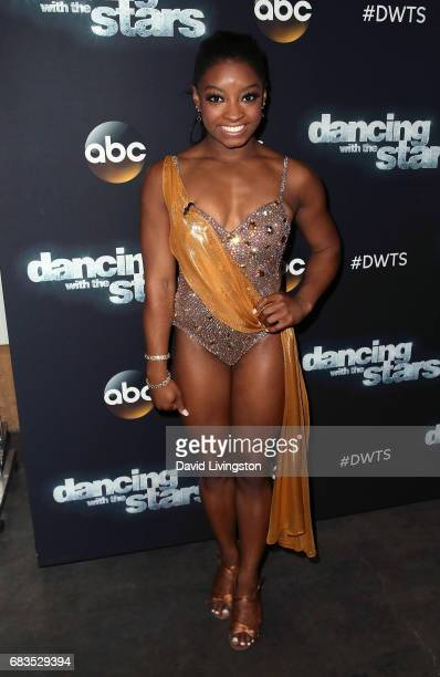 Olympian Simone Biles attends 'Dancing with the Stars' Season 24 at CBS Televison City on May 15 2017 in Los Angeles California