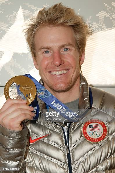 S Olympian Ted Ligety visits the USA House in the Olympic Village on February 20 2014 in Sochi Russia