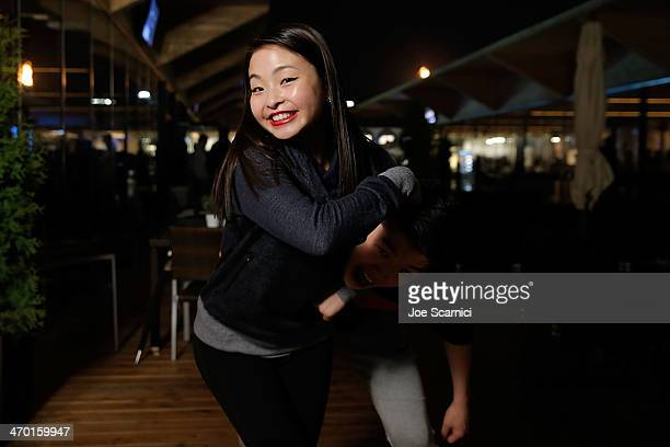 S Olympians Alex and Maia Shibutani visit the USA House in the Olympic Village on February 18 2014 in Sochi Russia