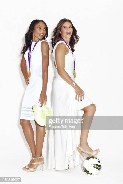 Olympians Allyson Felix and Carli Lloyd are photographed for Glamour Magazine on September 6 2012 in New York City