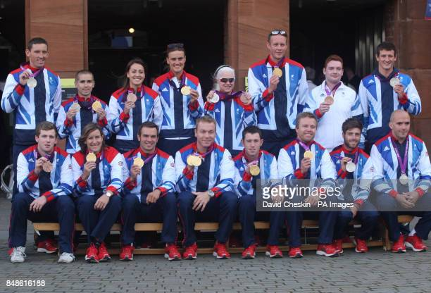 Olympians and Paralympic team members David Florence Neil Fachie Emily Maguire Heather Stanning Aileen McGlynn David Smith Daniel Purvis and Michael...
