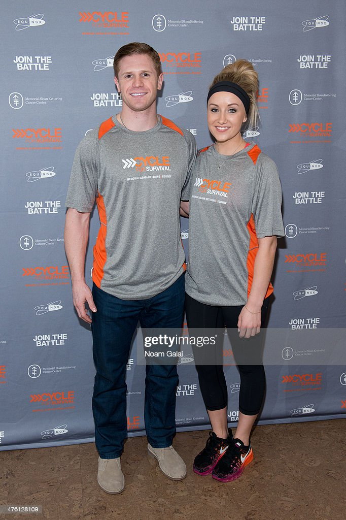 Olympians John Daly and Nastia Liukin attend 2014 'Cycle For Survival' Benefit Ride at Equinox Rock Center on March 2, 2014 in New York City.