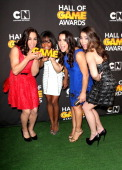 Olympians Jordyn Wieber Gabby Douglas Aly Raisman and McKayla Maroney attend the Third Annual Hall of Game Awards hosted by Cartoon Network at Barker...