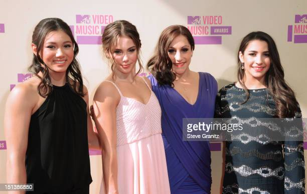 Olympians Kyla Ross McKayla Maroney Jordyn Wiber and Alexandra Raisman arrive arrive at the 2012 MTV Video Music Awards at Staples Center on...