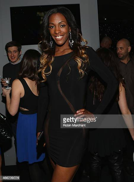 Olympic athlete DeeDee Trotter attends ESPN The Party at Basketball City Pier 36 South Street on January 31 2014 in New York City