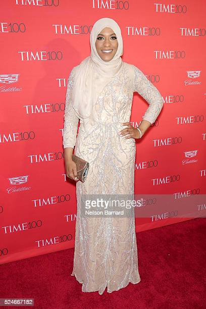 Olympic athlete Ibtihaj Muhammad attends the 2016 Time 100 Gala at Frederick P Rose Hall Jazz at Lincoln Center on April 26 2016 in New York City