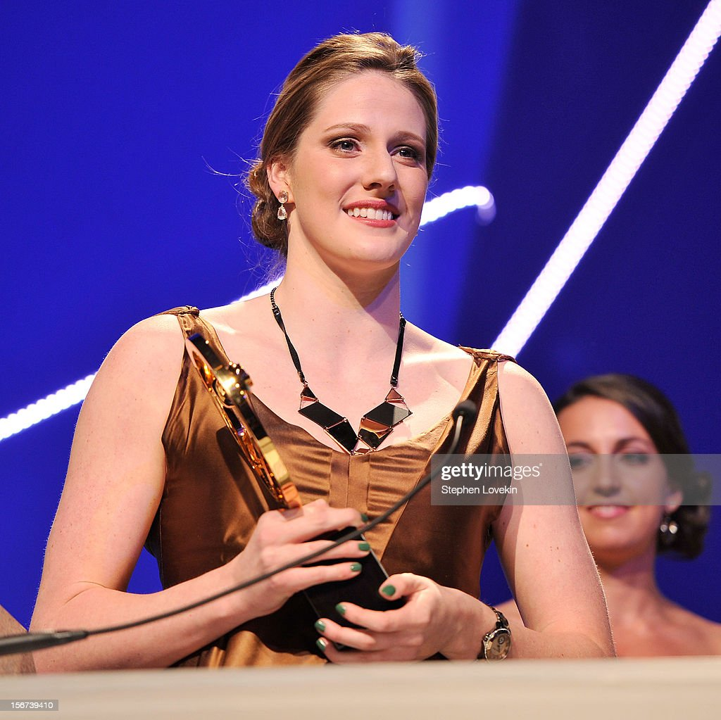 Olympic athlete Missy Franklin attends the 2012 Golden Goggle awards at the Marriott Marquis Times Square on November 19, 2012 in New York City.
