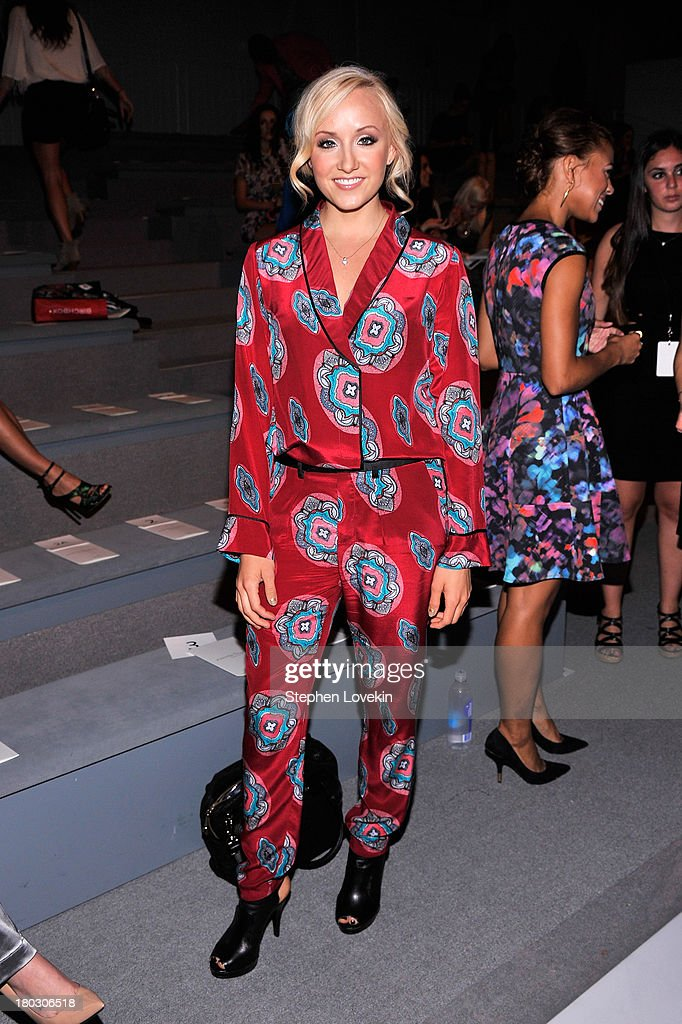 Olympic athlete Nastia Liukin attends the Nanette Lepore fashion show during Mercedes-Benz Fashion Week Spring 2014 at The Stage at Lincoln Center on September 11, 2013 in New York City.