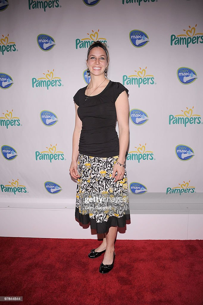Olympic athlete Noelle Pikus Pace attends the Pampers Dry Max launch party at Helen Mills Theater on March 18 2010 in New York City