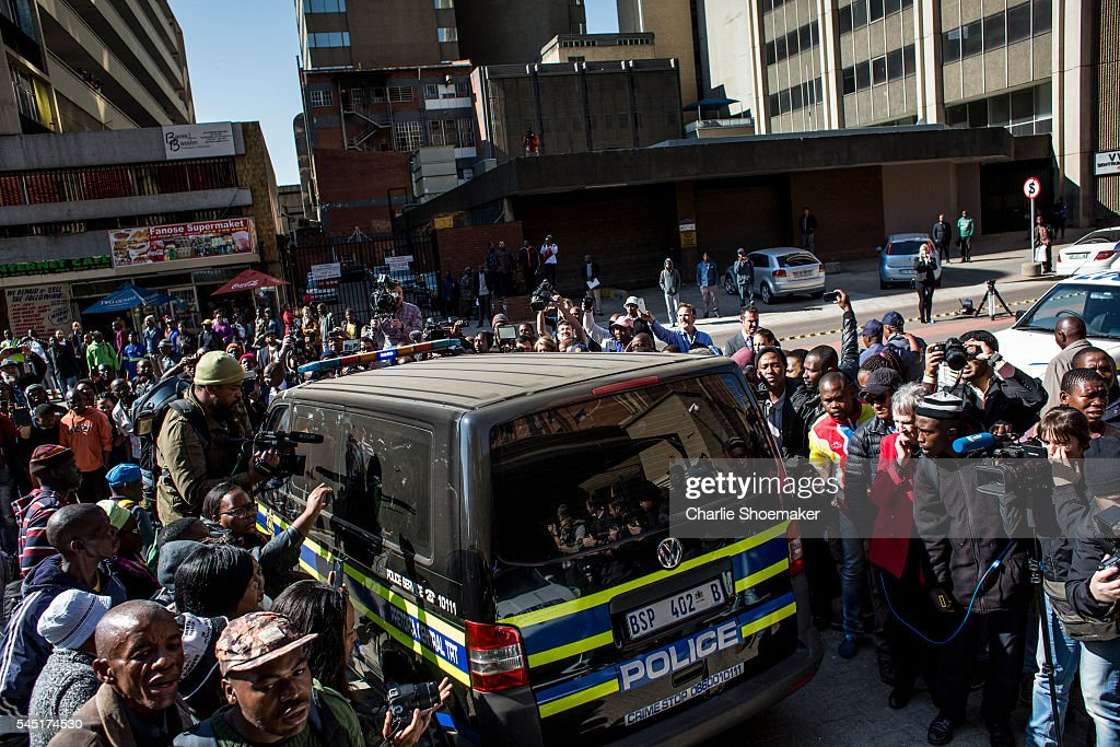 Olympic athlete Oscar Pistorius leaves the North Gauteng High Court after sentencing on July 6 2016 in Pretoria South Africa Pistorius was sentenced...