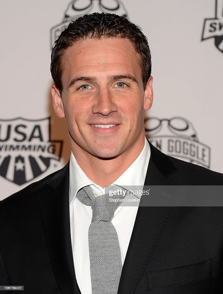 Olympic athlete <a gi-track='captionPersonalityLinkClicked' href=/galleries/search?phrase=Ryan+Lochte&family=editorial&specificpeople=182557 ng-click='$event.stopPropagation()'>Ryan Lochte</a> attends the 2012 Golden Goggle awards at the Marriott Marquis Times Square on November 19, 2012 in New York City.