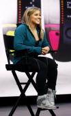 Olympic athlete Shawn Johnson speaks during the NikeFuel Forum at Spring Studios on October 15 2013 in New York City