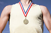 Olympic Athlete with gold medal