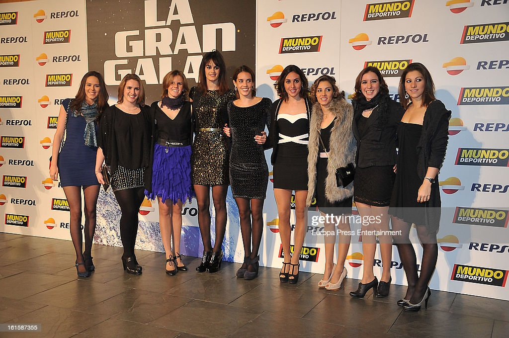 Olympic athletes attend the Sport Annual Gala In Barcelona at palau de Congresos on February 11, 2013 in Barcelona, Spain.