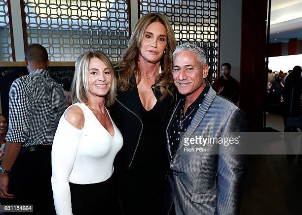Olympic athletes Nadia Comaneci Caitlyn Jenner and Greg Louganis attend Life is Good at GOLD MEETS GOLDEN Event at Equinox on January 7 2017 in Los...