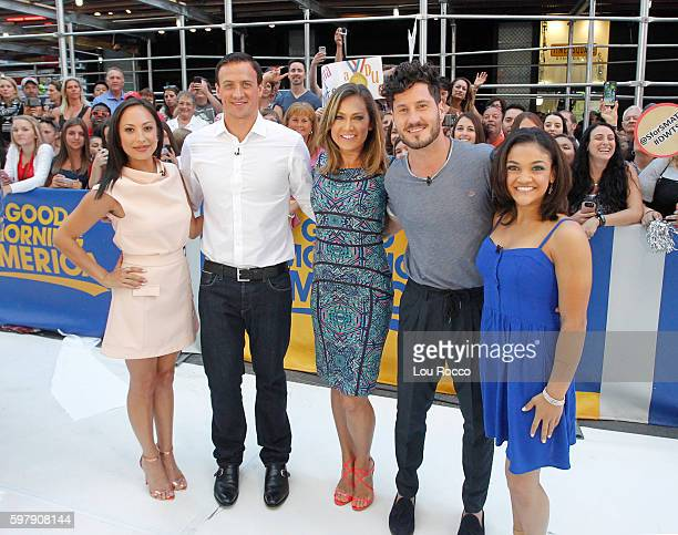 AMERICA Olympic athletes Ryan Lochte and Laurie Hernandez on 'Good Morning America' 8/30/16 airing on the ABC Television Network CHERYL