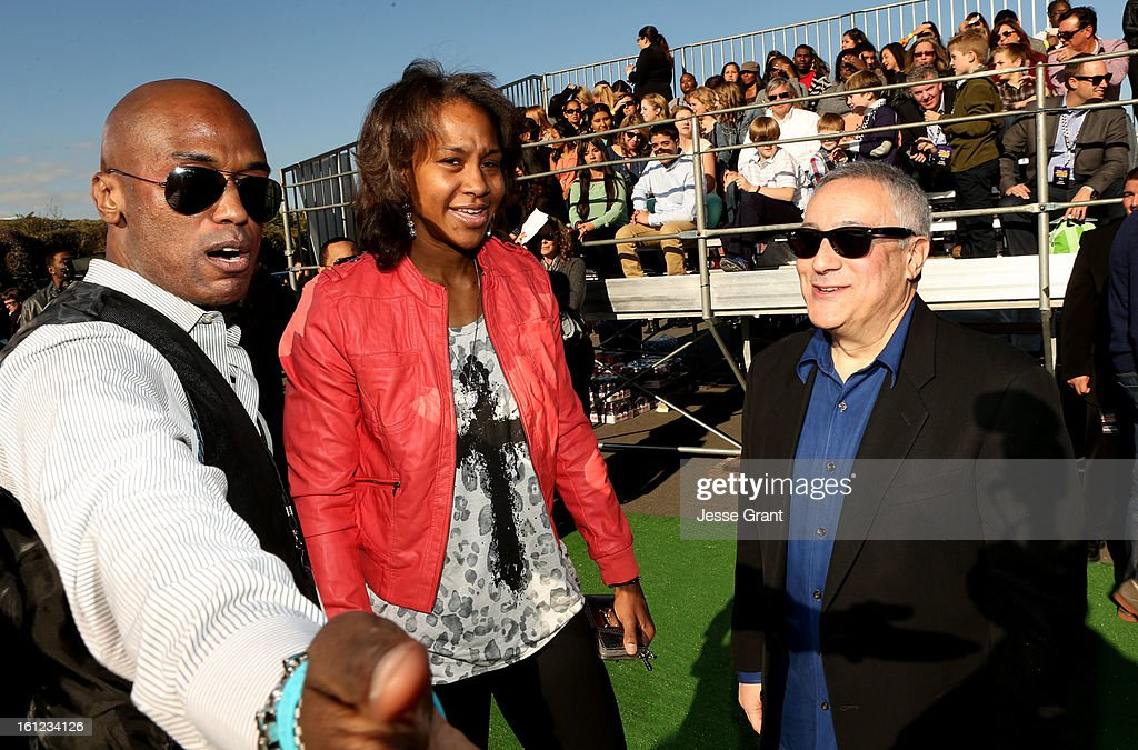 Olympic basketball player Tamika Catchings (C) and President/COO of Cartoon Network, Stuart Snyder (R) attend the Third Annual Hall of Game Awards hosted by Cartoon Network at Barker Hangar on February 9, 2013 in Santa Monica, California. 23270_002_JG_0336.JPG