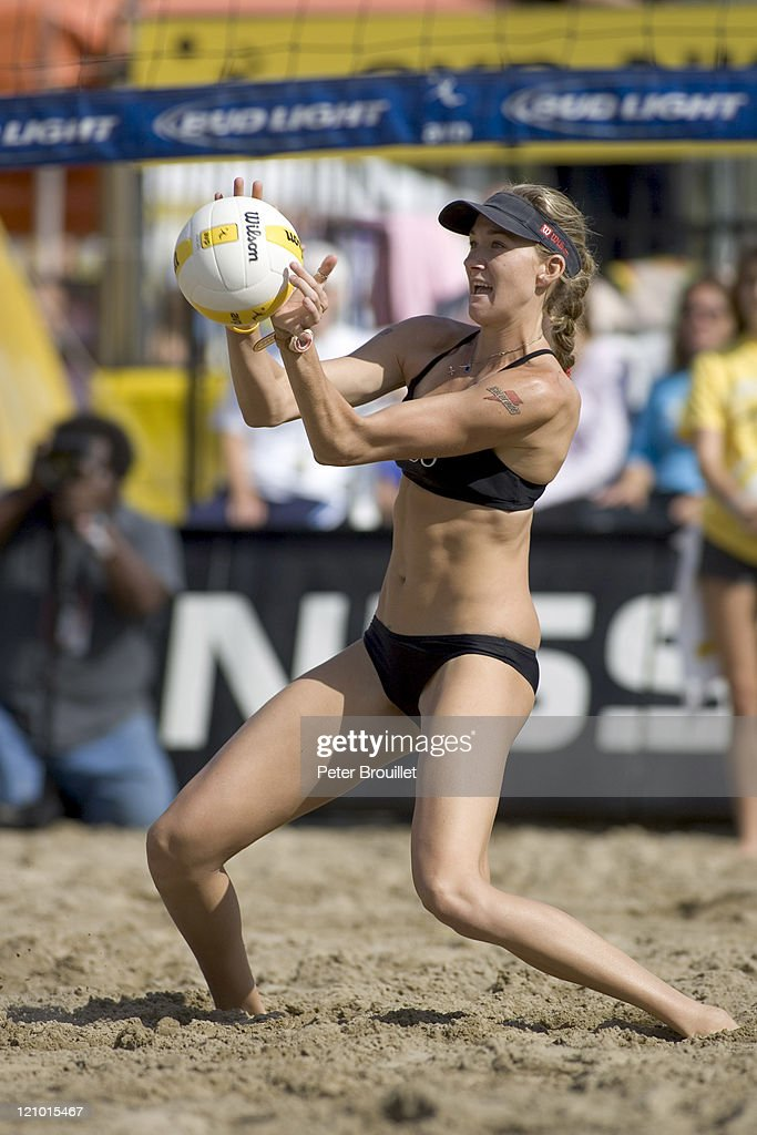 Olympic Beach Volleyball Gold Medalist Kerri Walsh digs a hard hit volleyball in the AVP Santa Barbara Open Kerri Walsh and partner Misty May went on...