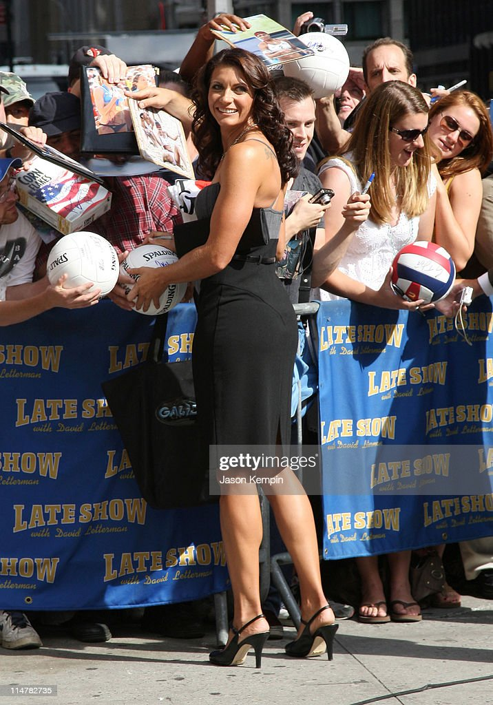 olympic beach volleyball gold medalist misty may treanor visits the late show with david